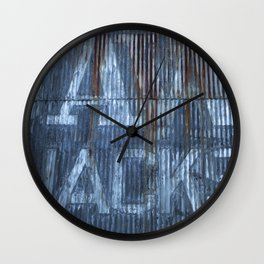 Rusty Cladding Photograph Wall Clock