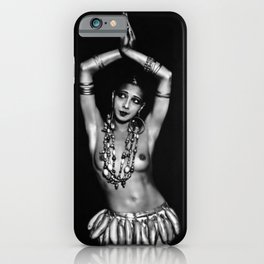 Jazz Age Josephine Baker in Folies Bergère Bananas Costume, Paris, France iPhone Case
