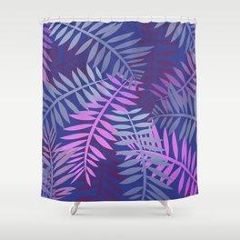 Violet pink palm leaves pattern Design #leaves Shower Curtain