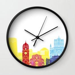 Rijeka skyline pop Wall Clock