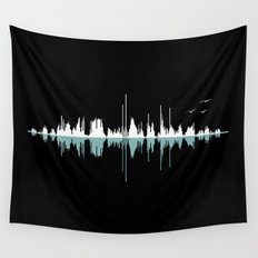 Music City ( Black version ) Wall Tapestry