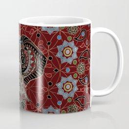 Indian Elephant in Mandala Ornament Coffee Mug