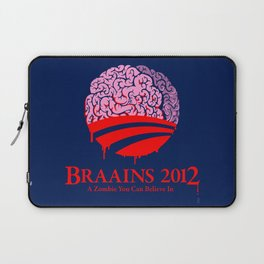 Vote Braains 2012 - A Zombie You Can Believe In Laptop Sleeve