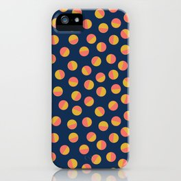 Navy & Gold Polka Dots iPhone Case