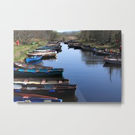 Fishing Boat Row Metal Print