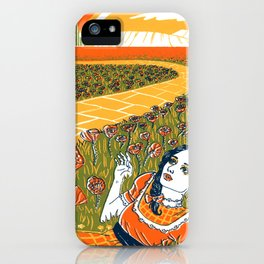 Dorothy in the Poppy Field iPhone Case