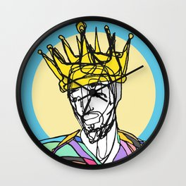 One line drawing series | King II Wall Clock