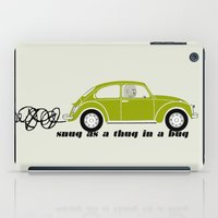 volkswagon iPad Cases featuring Snug as a Thug in a Bug (green) by The Wallpaper Files