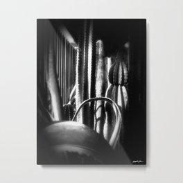 Cactus Garden Dark Metal Print