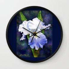 Susan's Blue Iris Wall Clock