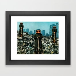 Looking for a Drummer Framed Art Print