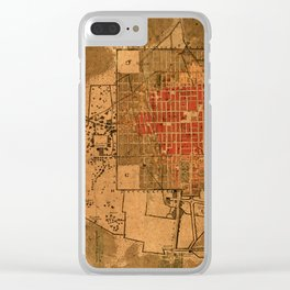 Map Of Mexico City 1794 Clear iPhone Case