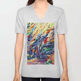 Abstract Art - Colorful Trees Unisex V-Neck