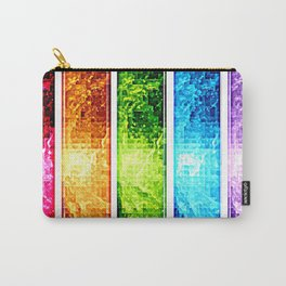 Rainbow Nebula Pixels Panel Art Carry-All Pouch