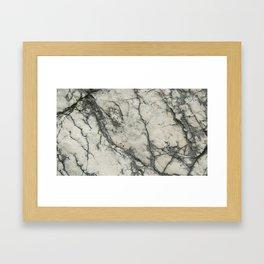The white stone with dark grey veins Framed Art Print