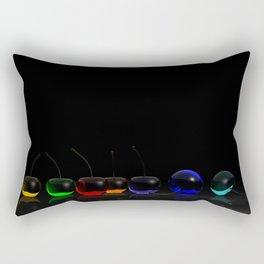 Rainbow Cherries - Black Rectangular Pillow