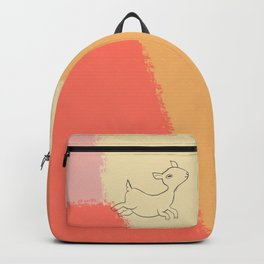 Abstract Goat - Orange and yellow, Animal Illustration Backpack