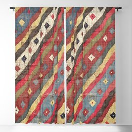Luri  Antique Fars Southwest Persian Kilim Print Blackout Curtain