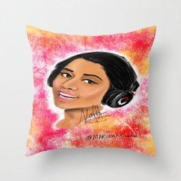 The Pink Print Throw Pillow