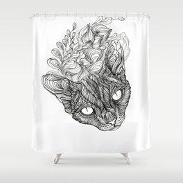 spirit of devonrex  Shower Curtain