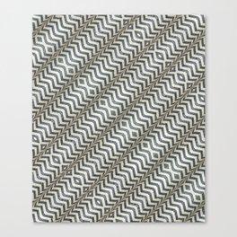 Diagonal Striped Print Pattern Canvas Print