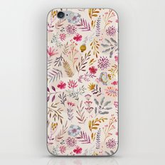 Light floral iPhone & iPod Skin