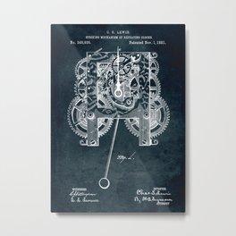 1881 Striking Mechanism of repeating clocks patent art Metal Print