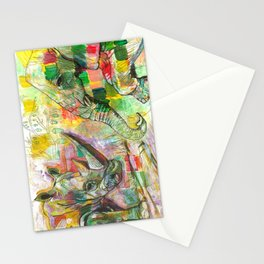 Rhinoceros Love and Friendly Observer Together! Stationery Cards