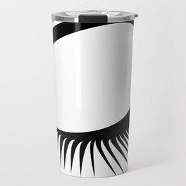 Closed Eyelashes Left Eye Travel Mug