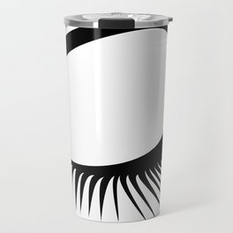 Closed Eyelashes Left Eye Travel Mug