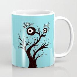 Excited Tree Monster Ink Drawing Coffee Mug