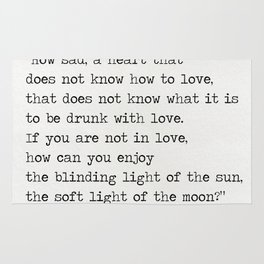 Omar Khayyám quote c Rug