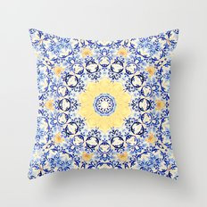 Deep States (Mandala) Throw Pillow