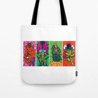 league Tote Bags featuring Da league by suprsunshine