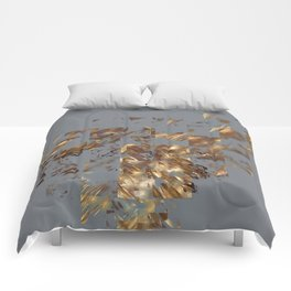 Bronze on Gray Square #abstract #society6 #decor #geometry Comforters