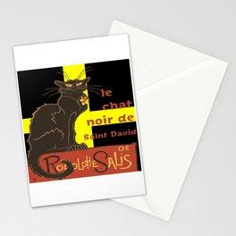 Le Chat Noir De Saint David De Rodolphe Salis Stationery Cards