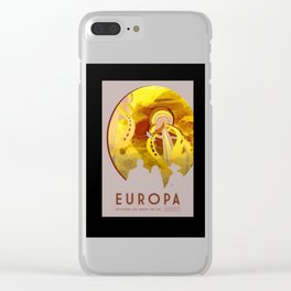 Europa - NASA Space Travel Poster (Alternative) Clear iPhone Case
