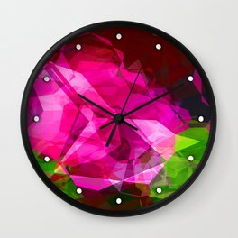 Rosas Moradas 1 Abstract Polygons 1 Wall Clock