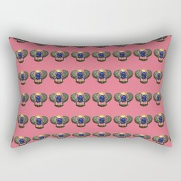 Egyptian Beetle Pattern (rose) Rectangular Pillow