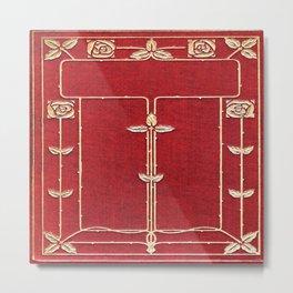 Red Rose Vines Metal Print