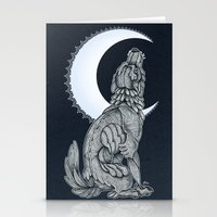 lunar Stationery Cards featuring Lunar by MacGreen