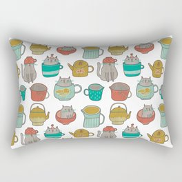 Pattern Project #5 / Cats and Pots Rectangular Pillow