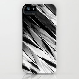 Abstract Pattern B&W1 iPhone Case