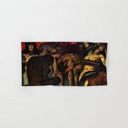 12,000pixel-500dpi - Franz von Stuck - Inferno - Digital Remastered Edition Hand & Bath Towel