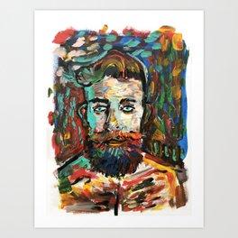 Sam con La Barba Art Print