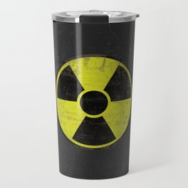 Grunge Radioactive Sign Travel Mug
