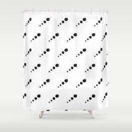 Cut Paper Polka Dot Planets Shower Curtain