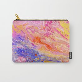 Pink and Yellow Abstract Carry-All Pouch