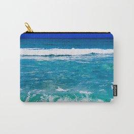 Beautiful Blue, Aqua, Turquoise, Relaxing, Peaceful, Coastal Seashore Waves Carry-All Pouch