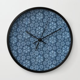 Daisy Denim Wall Clock